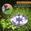 Водоотпорни соларни дискови за надворешно осветлување